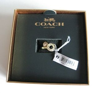 Coach Open Circle Gold Rings Size 7 (2 rings only)